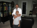 Kip, and my nephew Rashad, Summer 2010