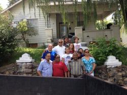 In front of the Pittman family home, with James Pittman, our Patriarch and his family.
