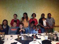 The Next Generation of Jordans at a family dinner