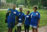 Jordan Reunion 2000.  Wayne Parrott, his two children Niquita and Nathaniel and Sister Angela Thomas