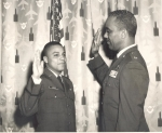 Billy taking oath as 2nd LT.